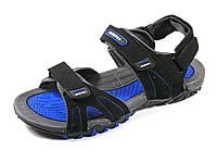 Сандалии мужские нубук черные открытый носок летние Adidas, фото 1