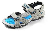 Сандалии мужские текстиль серые открытый носок летние Adidas, фото 1