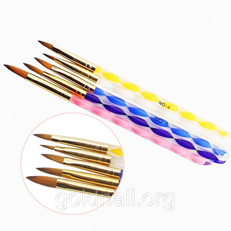 Кисти для акриловой росписи на ногтях
