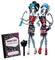 Monster High Zombie Shake Meowlody and Purrsephone  (Монстер Хай Мяулоди и Пурцефона Танцы Зомби)