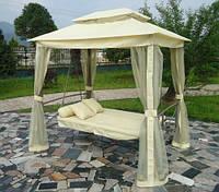 Садова 3 місна качеля - кушетка 2 в 1 + палатка з протимоскітною сіткою + ПОДАРУНОК