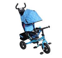 Трехколесный велосипед детский Super Trike VT1417 Голубой пенные колеса