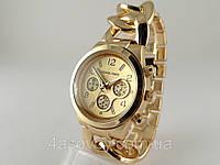 Часы Michael Kors плетеный браслет в золотом цвете