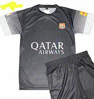 Мужская (р.44-54) футбольная форма ''Месси''- ФК ''Берселона'' (Барселона) - черная, запасная
