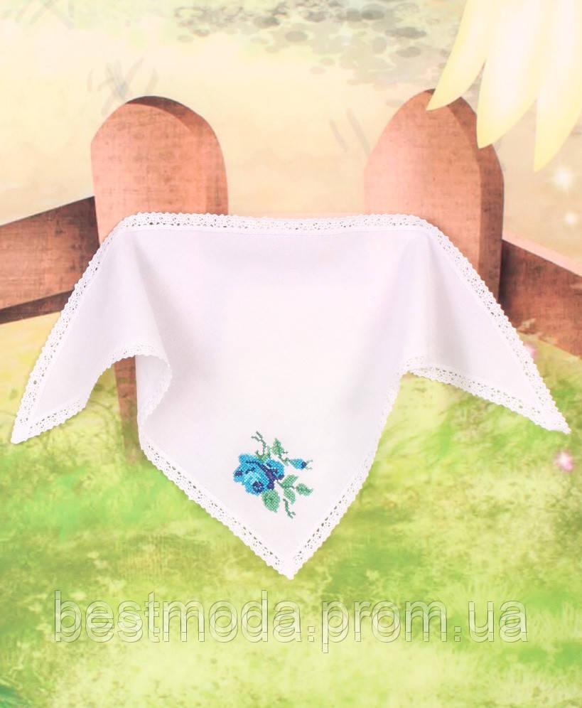 Косынка из домотканого полотна с вышиванкой