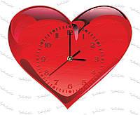 Часы настенные сувенирные из оргстекла Сердце