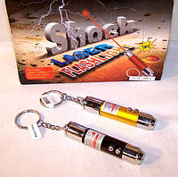 Прикол — шокер лазер-фонарик, электрошокер — шутка (shock laser flashlight)