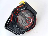 Часы  водостойкие Q@Q  Black@RED 10Bar спортивные, можно плавать, противоударные