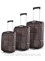 Комплект чемоданов бизнес класса фирмы  Mercury dark  3в1 на 2-х колесах