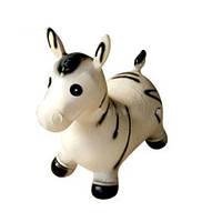 Яркая надувная игрушка лошадка прыгун резиновая (зебра) MS 0002