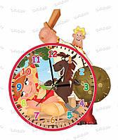 Часы детские настенные оргстекло Алеша Попович