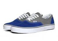 Кеды Vans, цвет сине-серый, замшевые