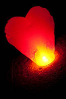 Небесные фонарики сердце (китайские фонарики, летающие фонарики, небесный фонарь, не дорого )