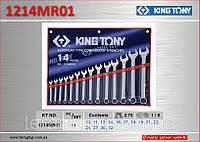 Набор ключей рожково-накидных 10-32мм, 14шт., KING TONY 1214MR01.