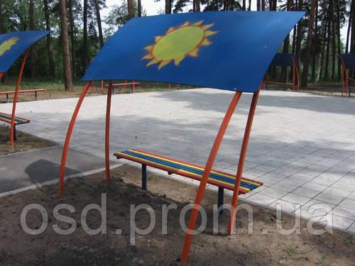 Навес от солнца «Парасолька», детская площадка