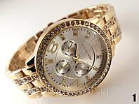 Часы женские Michael Kors золотой корпус с серебристым циферблатом