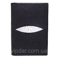 Чехол для документов из кожи ската / Genuine stingray leather passport/documents holder