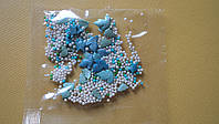 """Посыпка ТМ""""Украса""""перламутровая голуби,елки.серебро №13  7г(код 02946)"""
