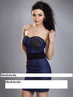 Платье  женское летнее синее