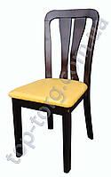 Стул обуденный WX-09 /052 венге, темный шоколад, с мягким сиденьем, деревянный, для кухни, Малайзия, со склада