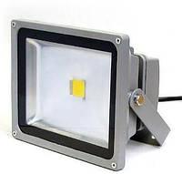 Прожектор светодиодный уличный led 20w, 12v, ip65, наружная подсветка зданий и участков, белый цвет