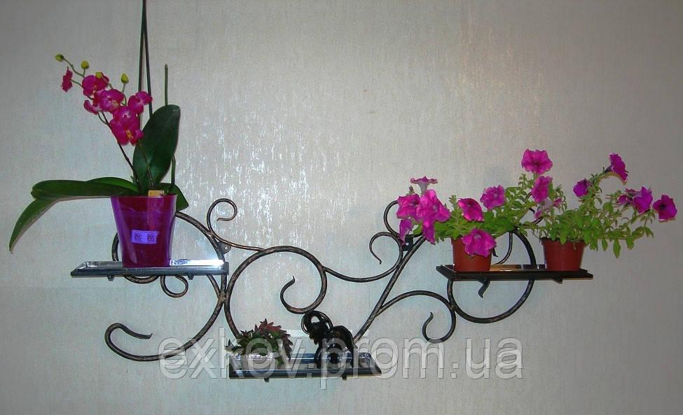 Настенные полки для цветы своими руками