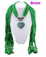 Модный шарф с кулоном.Новинка 2014