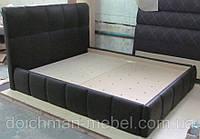 """Двухспальная кровать """"Черная пантера"""" с ящиками для белья"""