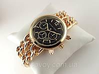 Часы Michael Kors плетеный двойной браслет в золотом цвете, циферблат черный