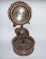 """Настольные интерьерные часы-статуэтка """"Подсолнух"""", часы-конфетница, кварцевые, подарочные, сувенирные часы"""