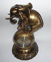 """Настольные интерьерные часы-статуэтка """"Слон"""", кварцевые, часы-сувенир, подарочные, сувенирные часы"""