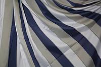 Тюль -штора  Жалюзи  сине -бело-серые