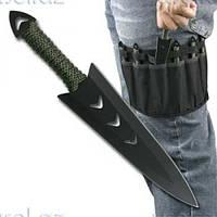 Метательные ножи 6 штук набор с ножнами.