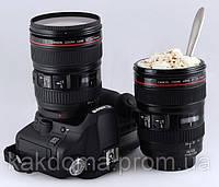 Кружка объектив Canon. Термо кружка. Термос.