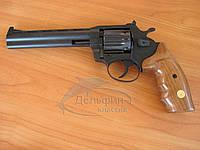 """Револьвер под патрон Флобера ALFA 461 6"""" (черный, дерево)"""