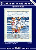 Набор для вышивания крестиком Дети на пляже