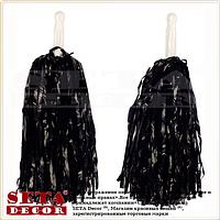Черные помпоны (махалки) для черлидеров и танцев матовые. Продажа и прокат.