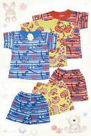 Детский костюм Лето футболка + шорты для девочек и мальчиков