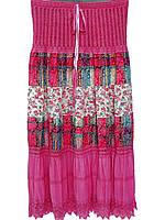 Длинные женские юбки в цветки (разные цвета)