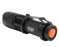 Фонарь (фонарик) карманный Police BL 8468 18000W мощный светодиодный, аккумуляторный