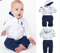 """Детский спортивный костюм """"Polo"""", бело-синий"""
