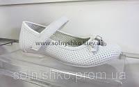 Туфли для девочки  ВА12461Т белые