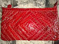 Клатч из натуральной кожи Красный ручная работа
