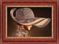 """Схема для вышивки бисером """"Девушка в шляпе"""""""