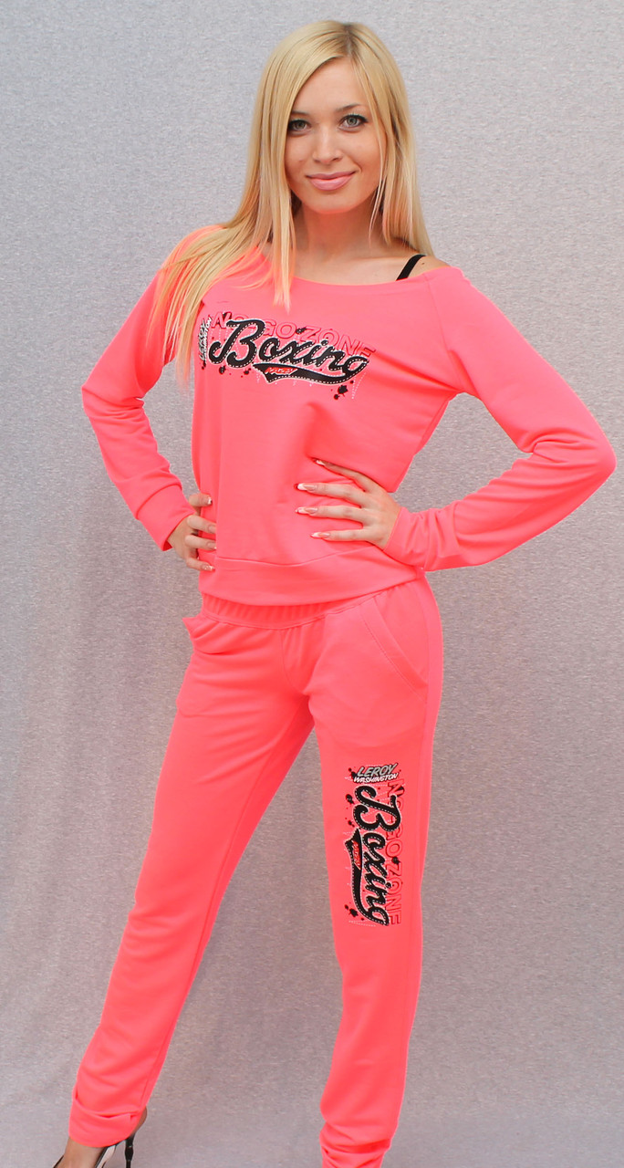 Женский розовый спортивный костюм
