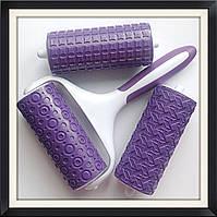 Валик текстурный для мастики 3 в1
