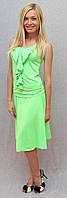 Костюм летний с юбкой салатовый, фото 1