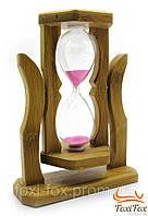 Песочные часы на подставке из дерева