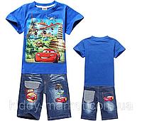 Костюм для мальчика шорты +футболка Маквин и Летачки