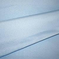 Ткань для портьер рогожка vink голубой